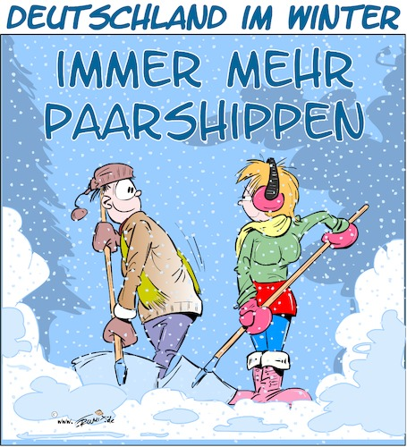 Cartoon: Paarshippen (medium) by Trumix tagged paarship,winter,schnee,schneeschippen,schippen,eis,kälte,paarship,winter,schnee,schneeschippen,schippen,eis,kälte,mann,frau,partnerschaft,schaufeln