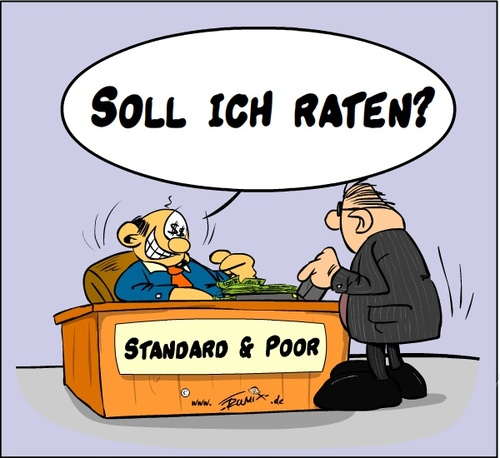 Cartoon: Standard and Poor (medium) by Trumix tagged standard,and,poor,rating,agentur,trummix,usa,klage