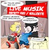 Cartoon: MGeniessen JA bezahlen NEIN (small) by Trumix tagged musik,musiker,künstler,bezahlung,entlohnung,kollekte,collection,jazz,pop,trummix