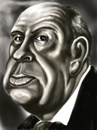 Cartoon: Alfred Hitchkokh caricature (small) by gartoon tagged alfred hitchkokh