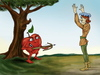 Cartoon: The revenge (small) by gartoon tagged william,tell,hero,apple