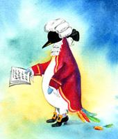 Cartoon: Mozart Pinguin (medium) by Wichtl Silvia tagged pinguine,penguins,musiker
