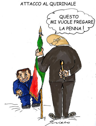 Cartoon: ATTACCO AL QUIRINALE (medium) by Grieco tagged grieco,quirinale,napolitano,italia,satira,rocco