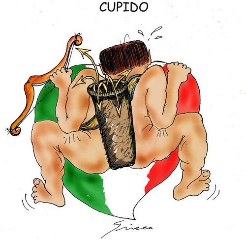 Cartoon: CUPIDO (medium) by Grieco tagged grieco,amore,san,valentino,berlusconi
