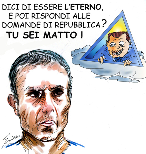 Cartoon: ETERNI (medium) by Grieco tagged grieco,ali,agca,berlusconi,eterno