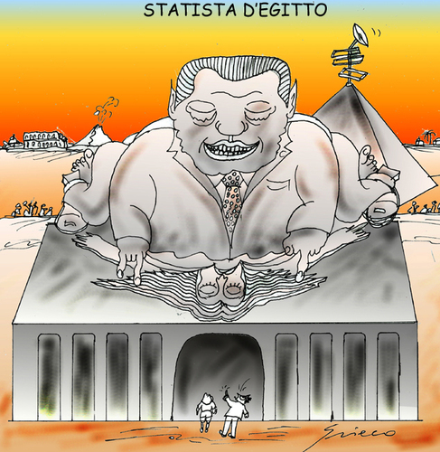 Cartoon: LO STATISTA (medium) by Grieco tagged grieco,statista,italia,berlusconi