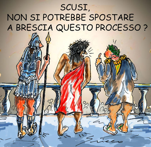 Cartoon: PROCESSI (medium) by Grieco tagged grieco,processi,brescia
