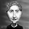 Cartoon: Agatha Christie (small) by RyanNore tagged agatha,christie,caricature,drawing,ryan,nore