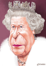 Cartoon: Queen Elizabeth II (small) by penava tagged karikatur,koenigin,england,caricature,english,british,royal,queen,elizabeth