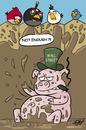 Cartoon: Wall Street ANGRY PIGS (small) by victorh tagged wallstreet,occupywallstreet,occupywallst