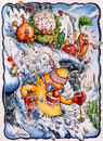Cartoon: Bananas restaurant Val d Isere (small) by Nick Lyons tagged ski,france,banana,fruit,nick,lyons,cartoonist