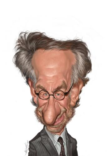 Cartoon: Steven Spielberg (medium) by Amir Taqi tagged steven,spielberg,director