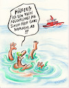 Cartoon: seenotrettung (small) by Petra Kaster tagged immigration,gewalt,rechtsradikale,fremdenhass,ertrinken,meer,wasser,humanität,seenotrettung,politik,fremdenpolitik,migration,demokratie