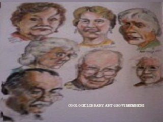 Cartoon: Coolock Library Art Group (medium) by jjjerk tagged coolock,library,art,group,blue,ireland,irish,glasses,cartoon,caricature