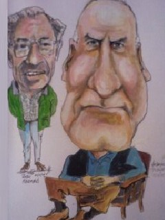 Cartoon: Jack and Tom (medium) by jjjerk tagged wexford,radford,harpur,tom,jack,mechanics,institute,ireland,irish,artist,painter,violin