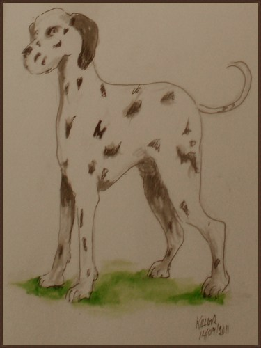 Cartoon: Killer (medium) by jjjerk tagged book,quest,bergins,spots,dog,dalmation,killer