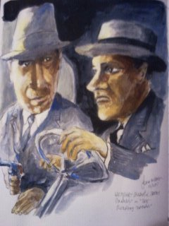 Cartoon: Roaring Twenties (medium) by jjjerk tagged roaring,twenties,film,actors,gangsters,james,cagney,humphrey,bogart,cartoon,caricature