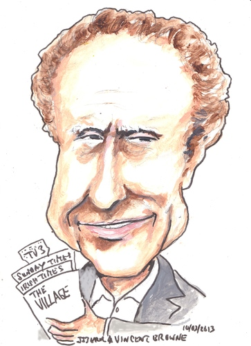Cartoon: Vincent Browne (medium) by jjjerk tagged vincent,browne,talk,show,host,tv3,cartoon,caricature,village,magazine,editor