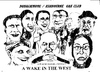 Cartoon: A Wake in the West (small) by jjjerk tagged wake in the west michael ginnelly barry cartoon caricature play irish ireland