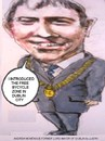 Cartoon: Andrew Montague (small) by jjjerk tagged montague andrew councillor politician labour party mayor dublin ireland irish cartoon caricature bike bicycle suit