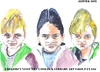 Cartoon: Children visit the the art class (small) by jjjerk tagged children,visit,coolock,library,art,class,three,irish,dublin,germany