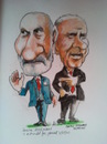 Cartoon: David and Martin (small) by jjjerk tagged david norris martin mcguinness election president ireland
