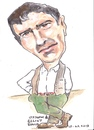Cartoon: Elliot Gould (small) by jjjerk tagged gould,elliott,actor,american,jewish,cartoon,caricature,green,film