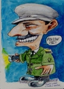 Cartoon: Follow me (small) by jjjerk tagged usher,cartoon,caricature,green,uniform,braid,movie,cinema,dublin,irish,ireland