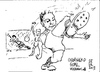 Cartoon: goal (small) by jjjerk tagged cartoon,football,soccer,goal,net