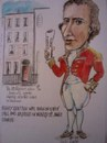 Cartoon: Henry Gratten (small) by jjjerk tagged henry gratten irish politician dublin cartoon caricature 1798 rebellion ireland red scroll house saint stephens green claims rights parliamont