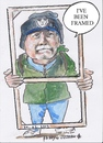 Cartoon: Ive been framed (small) by jjjerk tagged paddy,coolock,library,art,group,peter,frame,wood,blue,cartoon,caricature