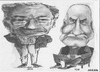 Cartoon: Jack and Tom (small) by jjjerk tagged tom jack wexford cartoon caricature chair glasses