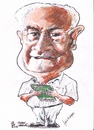 Cartoon: John Waring (small) by jjjerk tagged john waring cartoon caricature writer ireland england famous