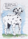 Cartoon: Killer (small) by jjjerk tagged killer,bergins,quest,dalmation,spots,ireland,cartoon