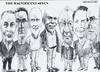 Cartoon: Magnificent Seven (small) by jjjerk tagged bell,art,group,darndale,cartoon,caricature,glasses,irish,ireland,artists,painters
