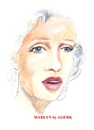 Cartoon: Marlyn (small) by jjjerk tagged marlyn monroe cartoon caricature river of no return portrait actress actor movie star