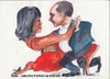 Cartoon: Obama tango (small) by jjjerk tagged obama,president,michelle,wife,husband,cartoon,caricature,red,united,states,dance,tango