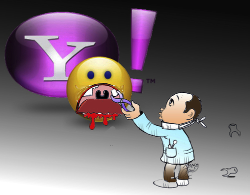 Cartoon: yahoo chat (medium) by Hossein Kazem tagged yahoo,chat