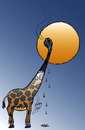 Cartoon: Giraffe (small) by Hossein Kazem tagged giraffe