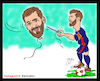 Cartoon: messi and iranian messi (small) by Hossein Kazem tagged messi,and,iranian