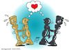 Cartoon: peace in chess (small) by Hossein Kazem tagged peace,in,chess