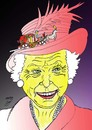 Cartoon: queen elizabeth (small) by Hossein Kazem tagged queen,elizabeth