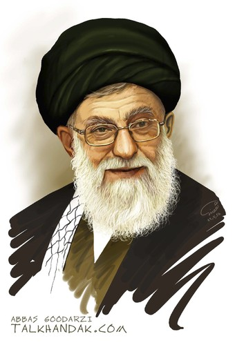 Cartoon: Imam Khamenei (medium) by goodarzi tagged ali,sayyid,art,abbas,goodarzi,iran,khamenei,imam