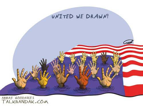 Cartoon: Wall Street (medium) by goodarzi tagged cruel,abbas,flag,the,hand,american,goodarzi,water,drowning,help,people,america,in,st,wall,occupy