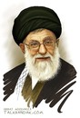 Cartoon: Imam Khamenei (small) by goodarzi tagged imam,khamenei,iran,goodarzi,abbas,art,sayyid,ali