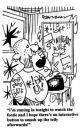 Cartoon: Staying In (small) by Dave Parker tagged home,skinhead