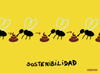 Cartoon: sustainability (small) by parentheses tagged flies shit nature sustainable