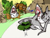Cartoon: How GREAT WHITE SHARKS hunt. (small) by DaD O Matic tagged hunting,greatwhite,shark,wild,nature