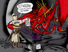 Cartoon: Knight in the Hood. (small) by DaD O Matic tagged dragons,knights,honda,repo