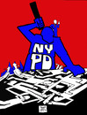 Cartoon: OCCUPY WALL STREET (small) by DaD O Matic tagged occupy,wall,st,nypd,pepper,spray,protest